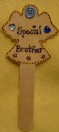 Angel Memorial Grave Tree Marker Crematorium Special Brother Christmas Birthday Angelversary In Memory Ready To Despatch